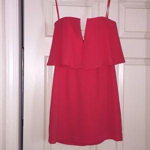 Orange/pink mini dress